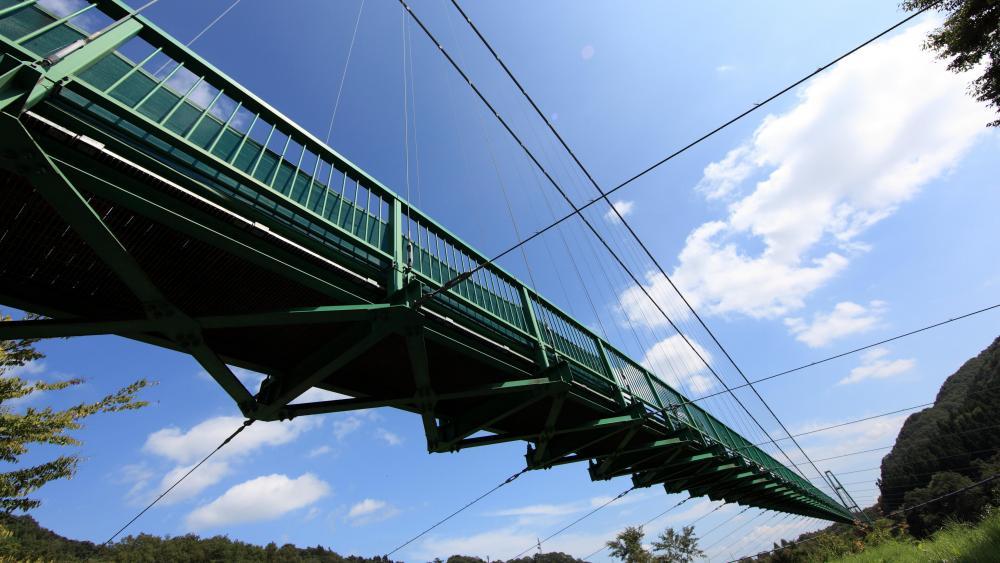 Momijidani Suspension Bridge wallpaper