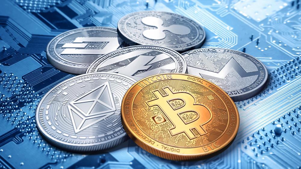 Crypto coins wallpaper