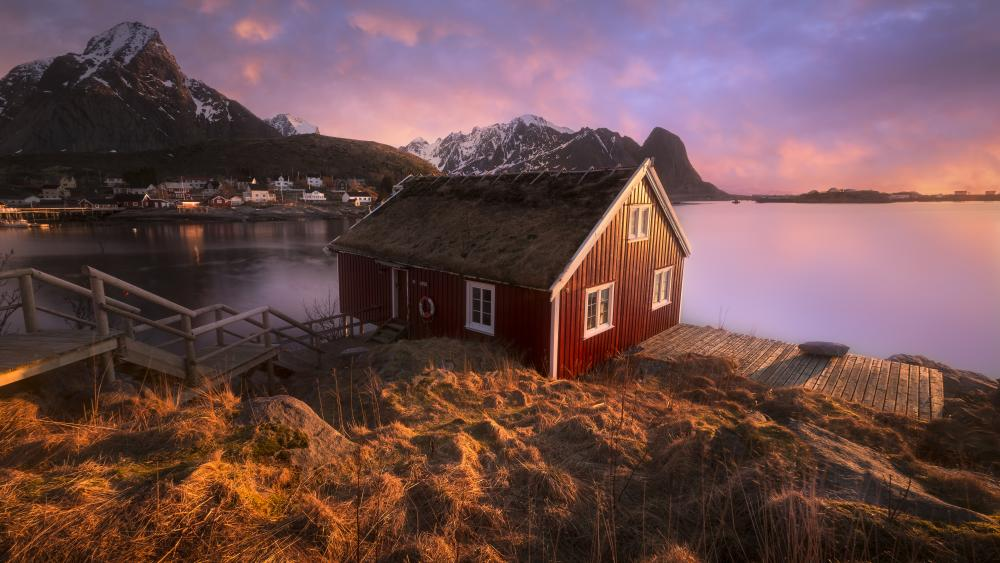 Fishermans Village of Reine wallpaper
