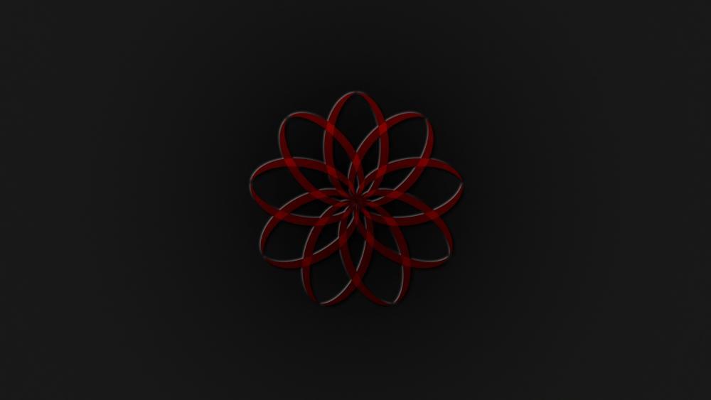 Red-visual wallpaper
