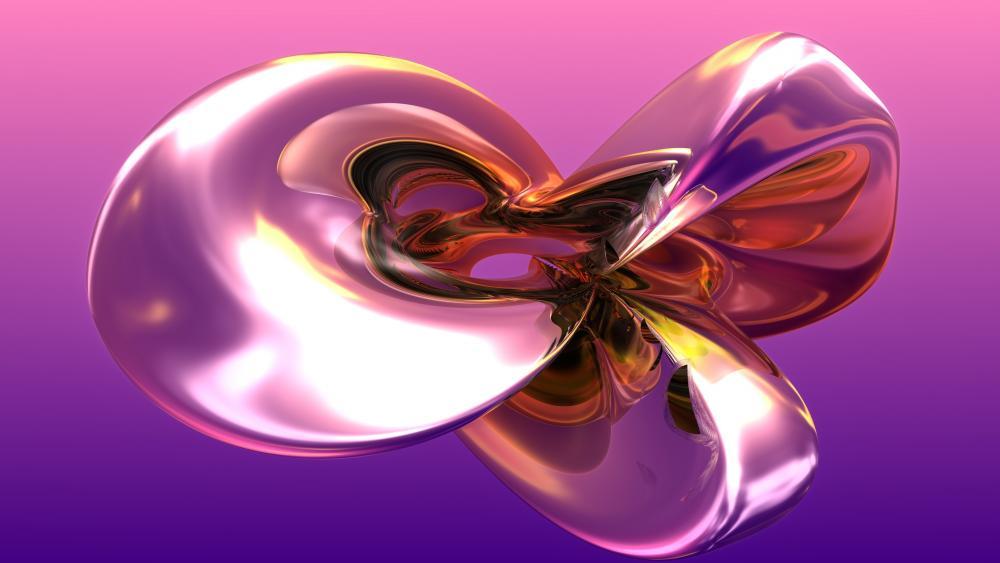 3D abstract computer graphics wallpaper