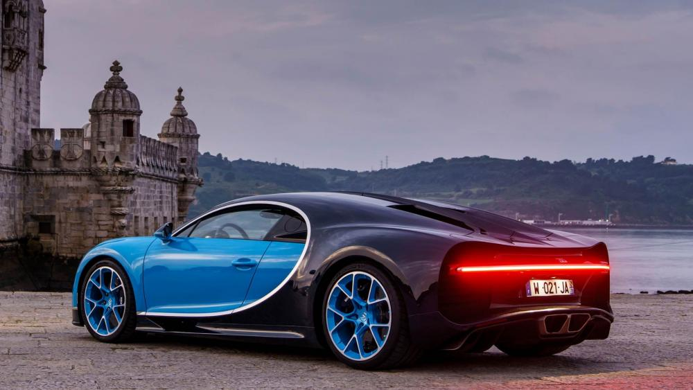 Bugatti Chiro at the Belém Tower wallpaper