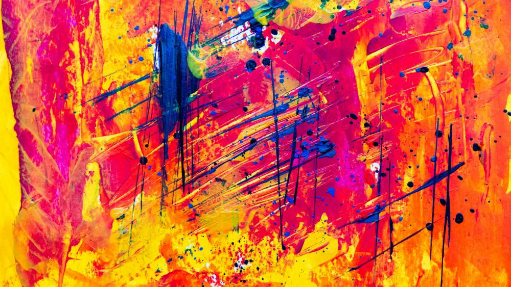 Abstract painting art wallpaper
