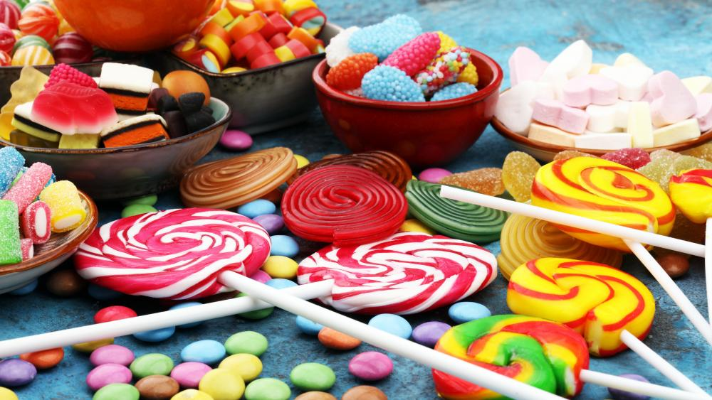 Candies and Lollipops wallpaper