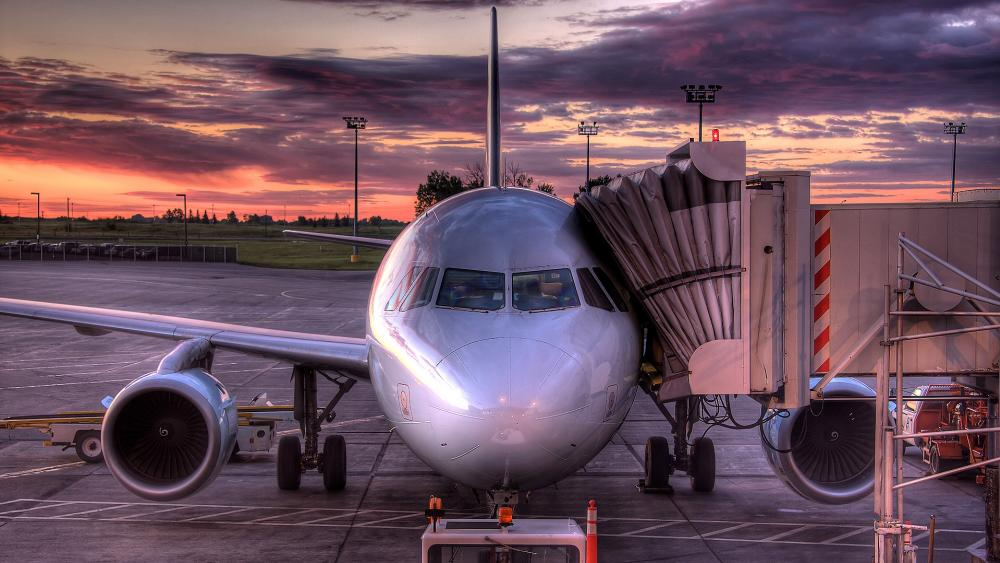 Plane in Airport wallpaper