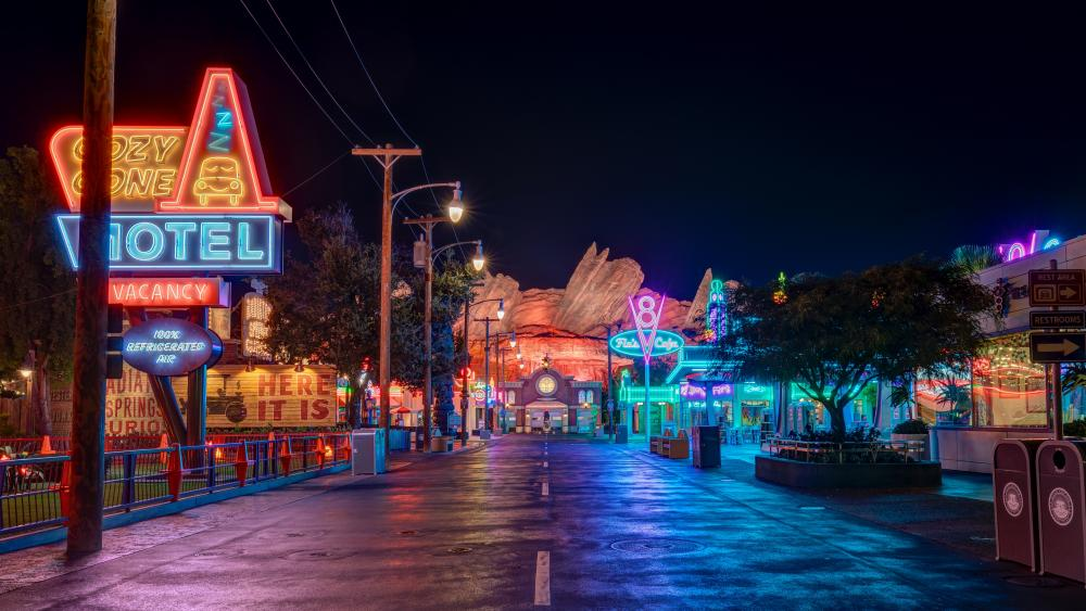 Disneyland by night wallpaper