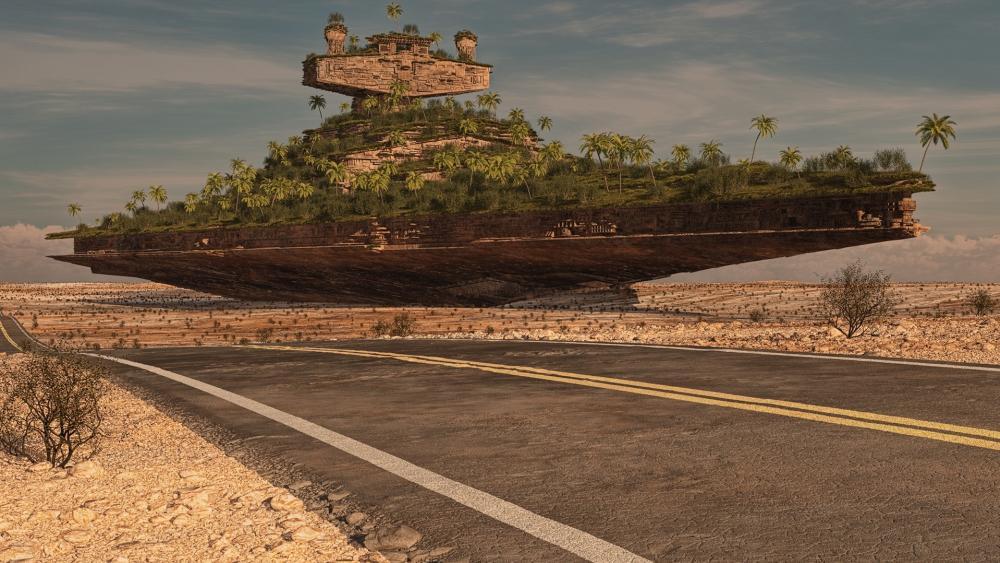 Fantasy highway wallpaper