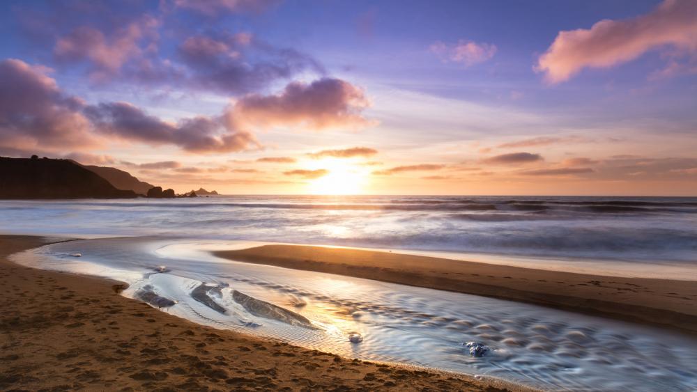Ocean sunrise wallpaper