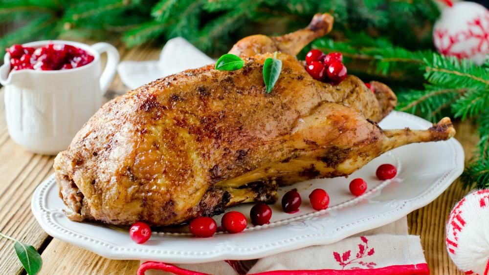 Christmas Goose Dinner wallpaper