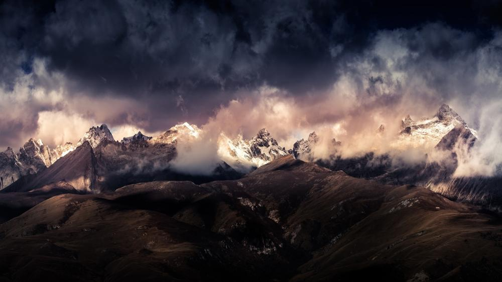 Rugged mountains wallpaper