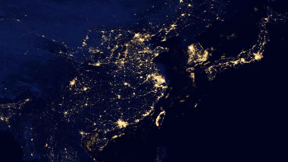 Night Lights of China, Japan and South Korea v2012 wallpaper