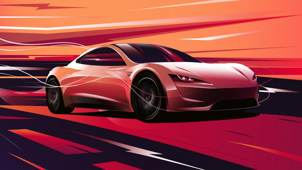 Tesla Roadster 2020 concept car wallpaper