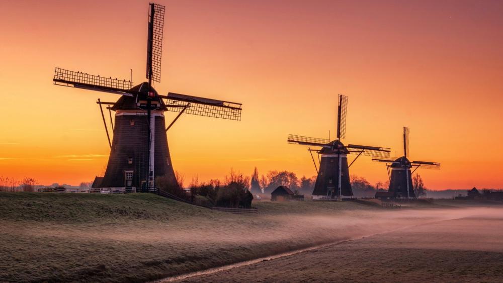 Stompwijk's windmills wallpaper