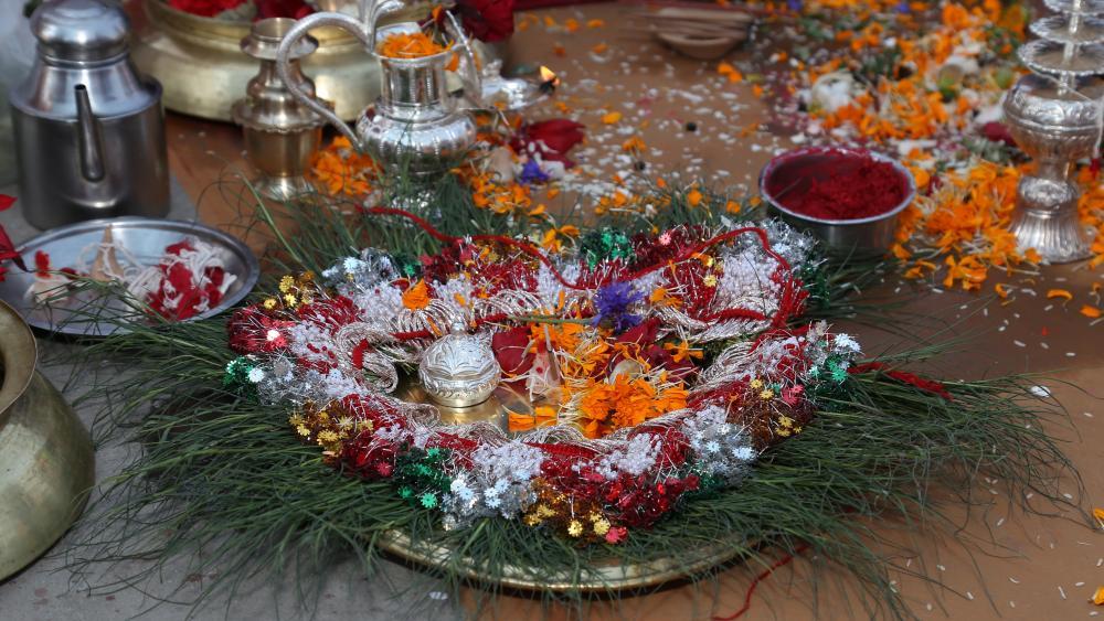 hindu wedding flower set wallpaper