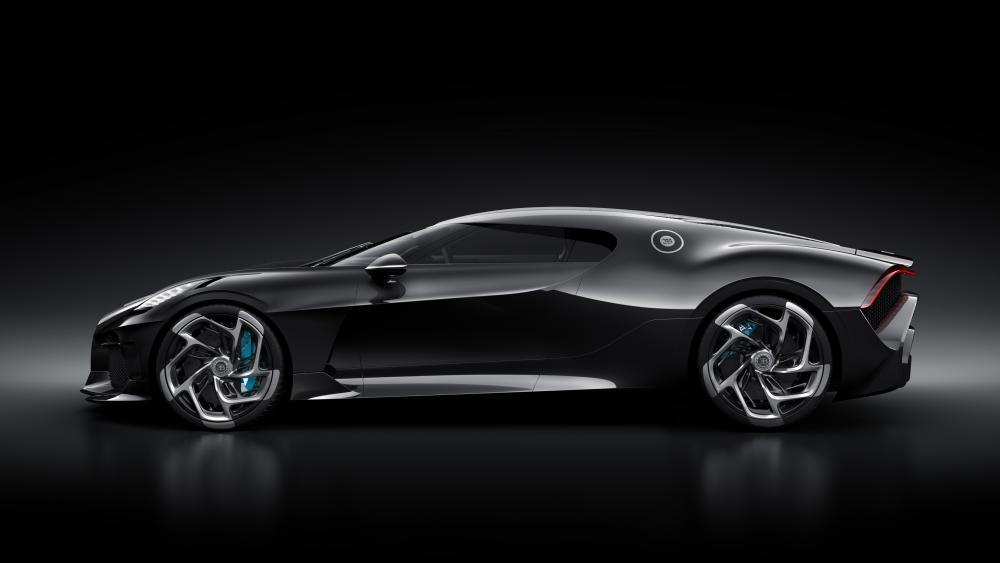 Black Bugatti La Voiture Noire sideview wallpaper