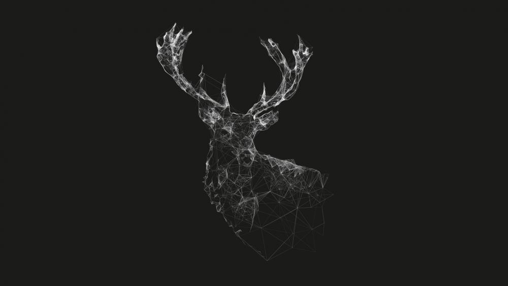 Geometric deer wallpaper