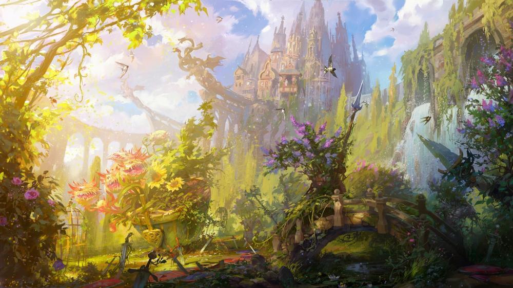 Summer fantasy art wallpaper