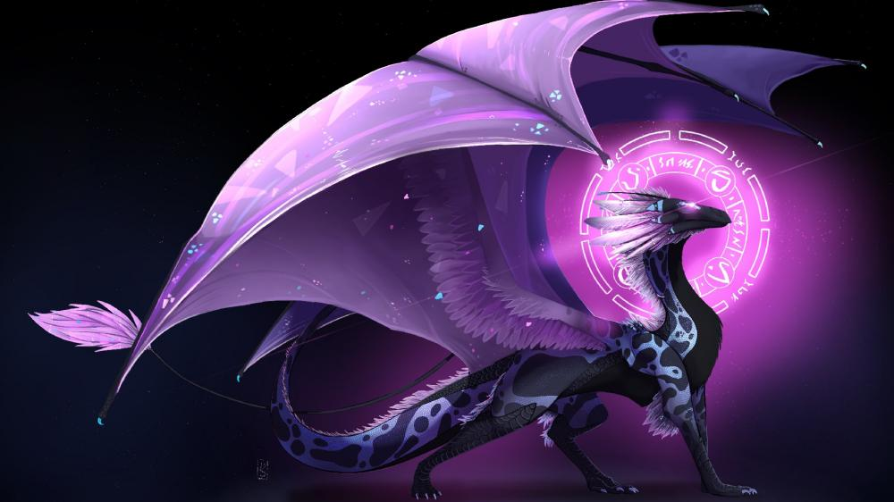 Purple dragon wallpaper