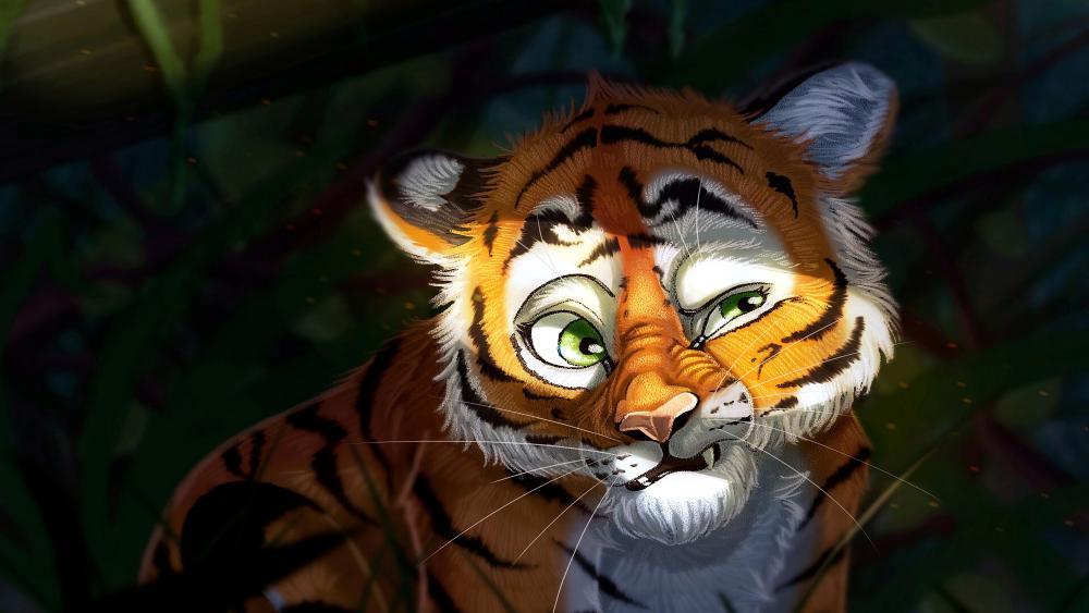 Tiger Cub Art wallpaper