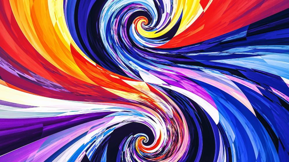 Colorful vortex wallpaper