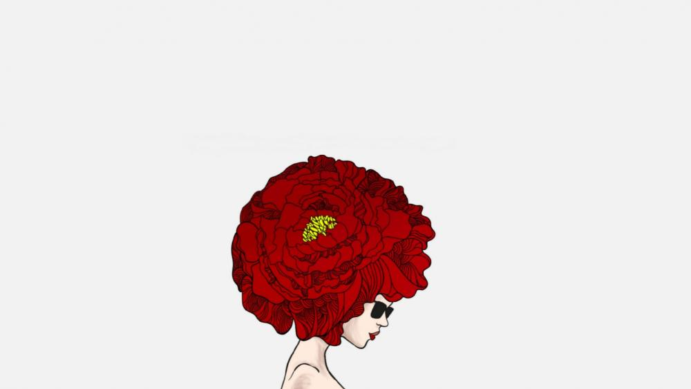 Flower hair wallpaper