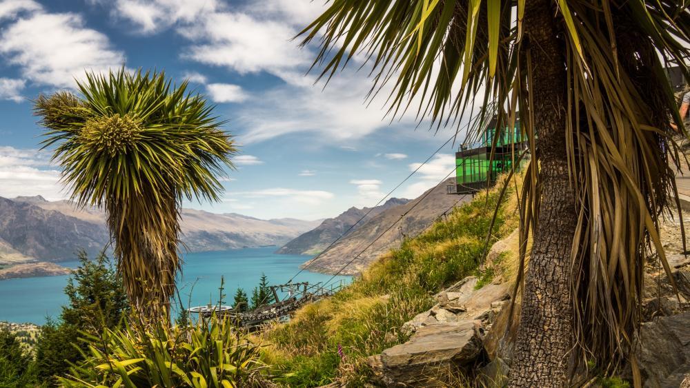 Lake Wakatipu view from Skyline Queenstown wallpaper