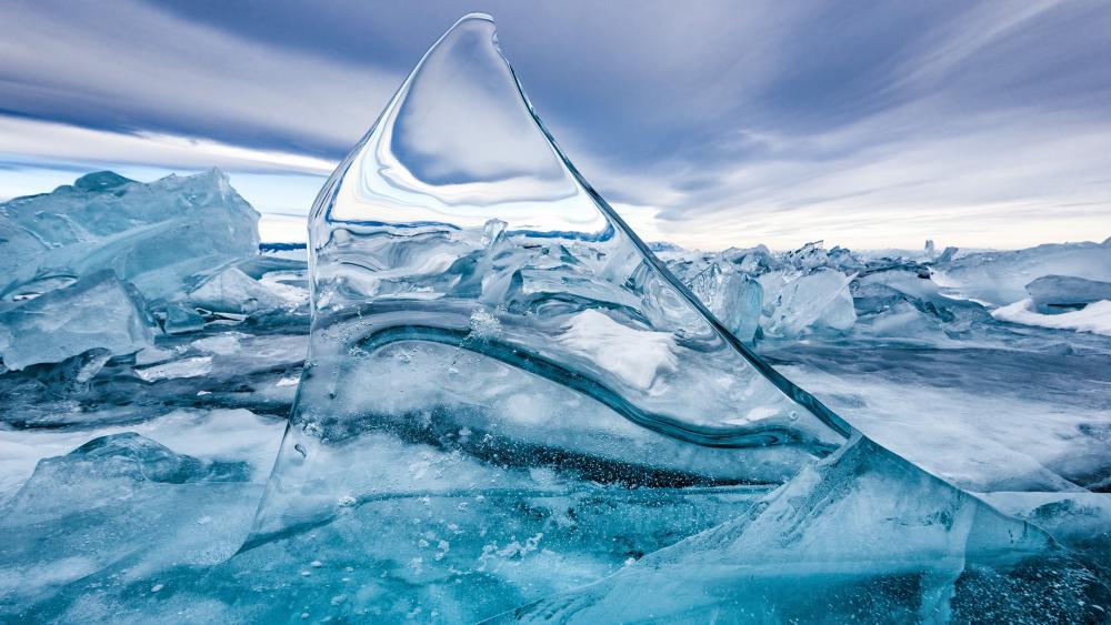 Icy Lake Baikal wallpaper