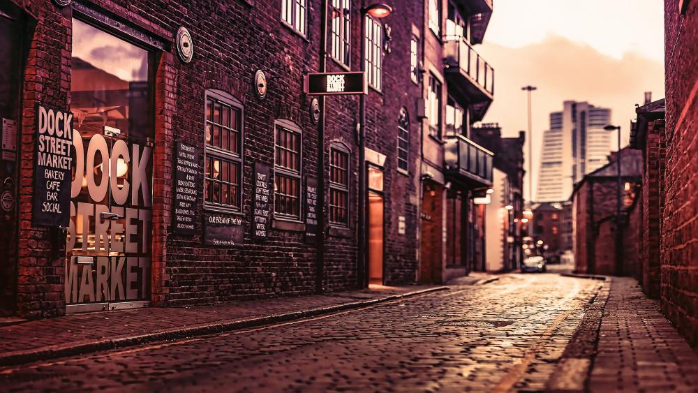 Dock Street Market (England) wallpaper