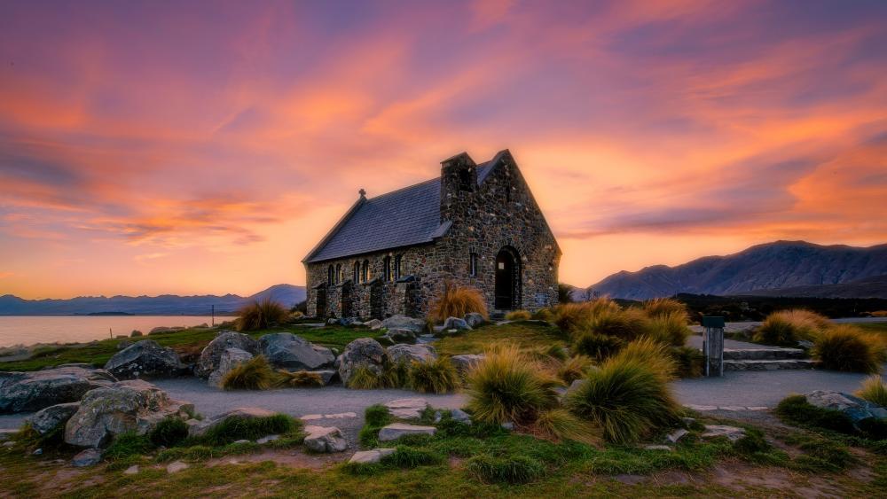 Church of the Good Shepherd (New Zealand) wallpaper