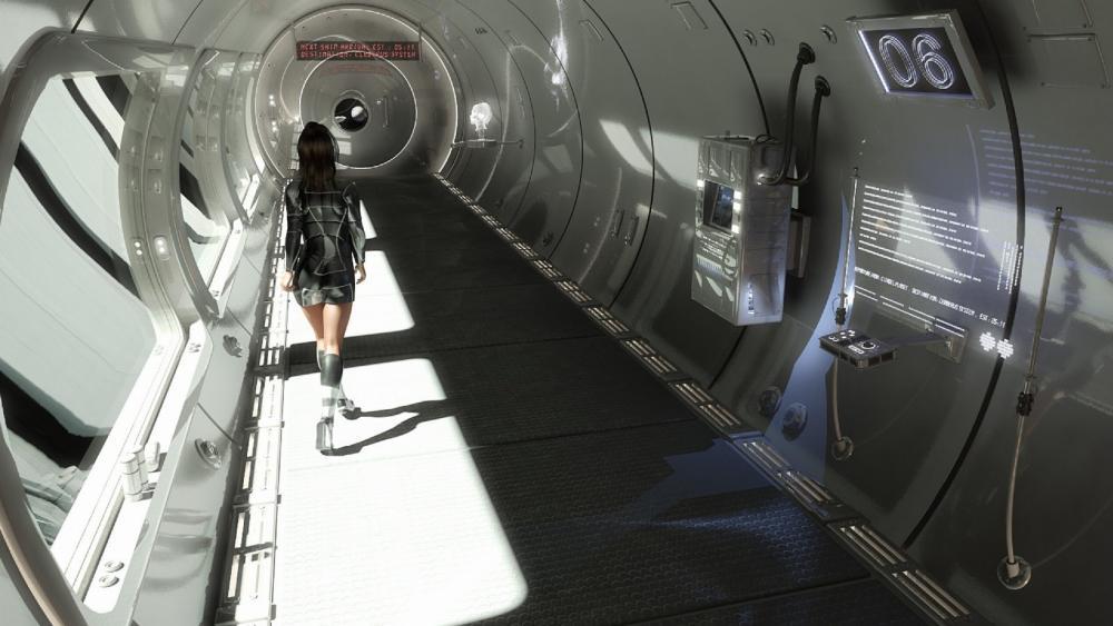 Space Dock scifi art wallpaper