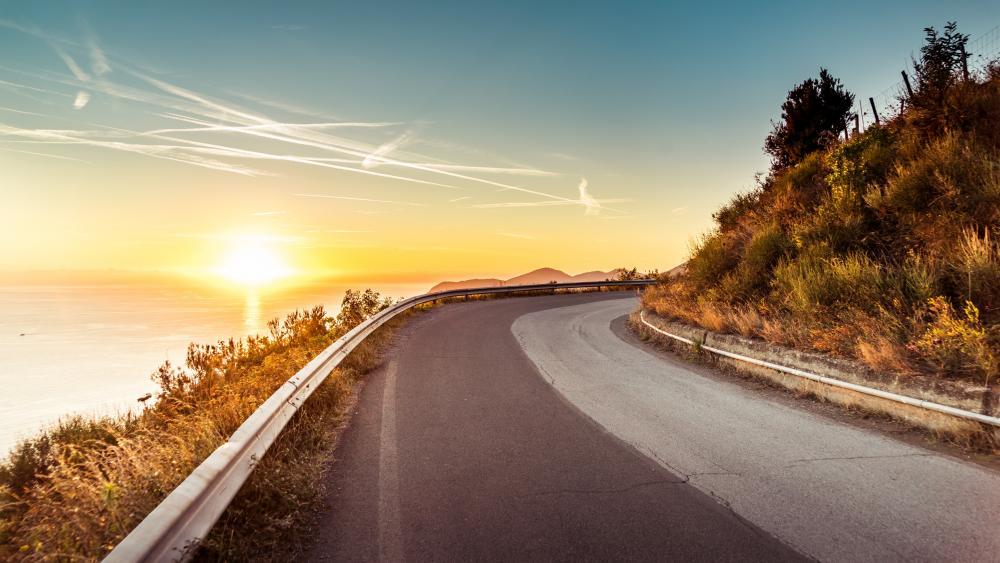 Coastline road wallpaper