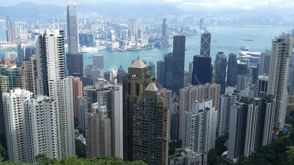 Hong Kong Tower Blocks wallpaper