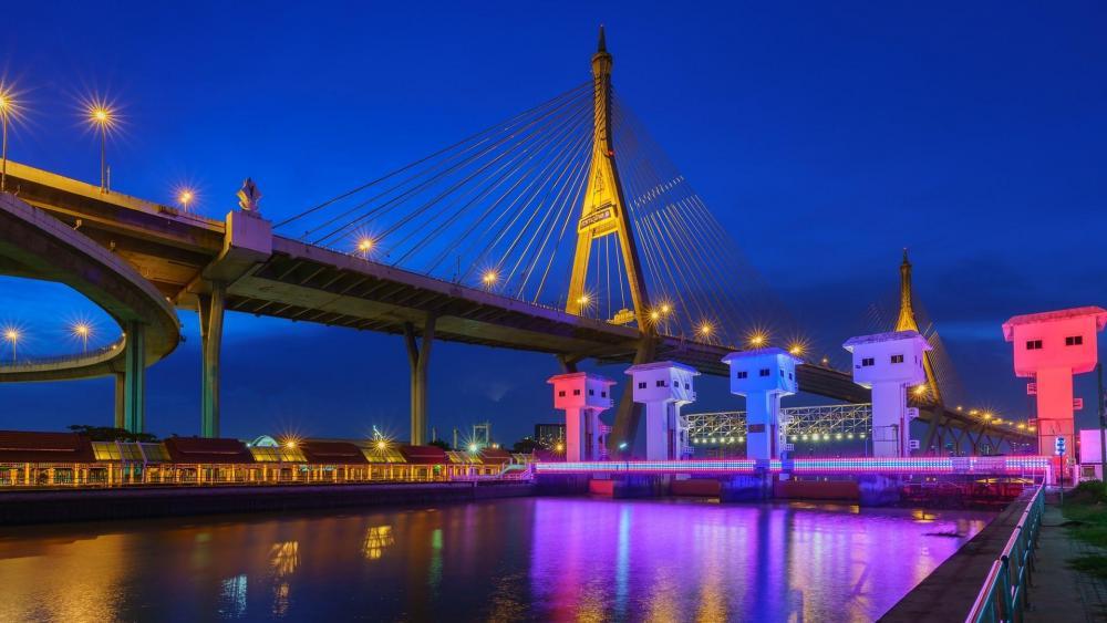 Bhumibol Bridge (Thailand) wallpaper