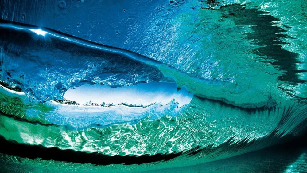 Under the wave wallpaper