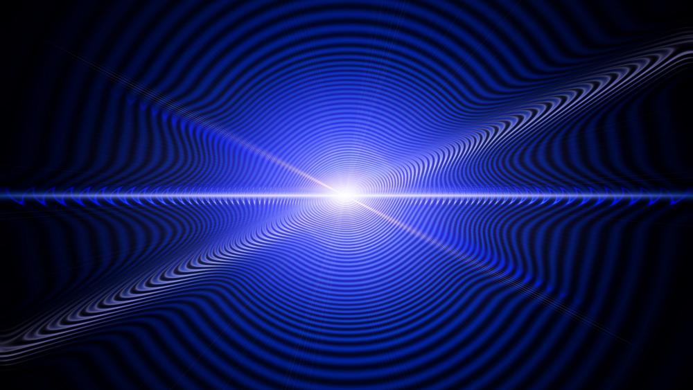 Light waves wallpaper