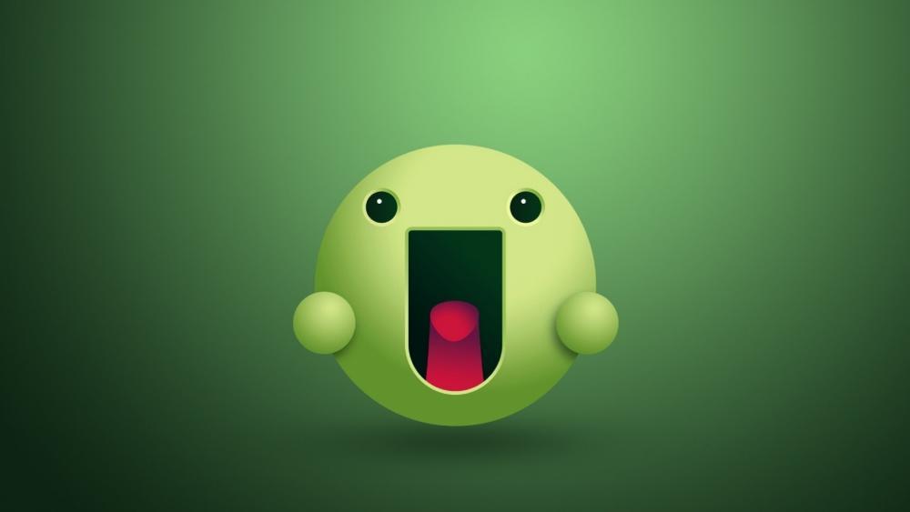 Green Smiley wallpaper