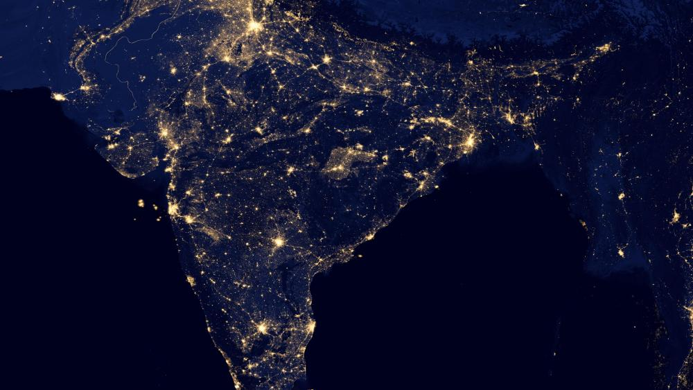 Night Lights of India v2012 wallpaper