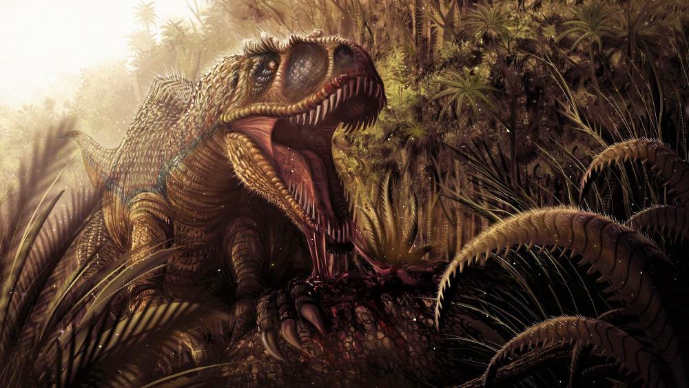 T-Rex Dinosaurus wallpaper