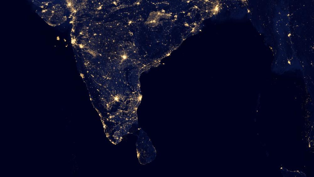 Night Lights of Southern India & Sir Lanka v2012 wallpaper