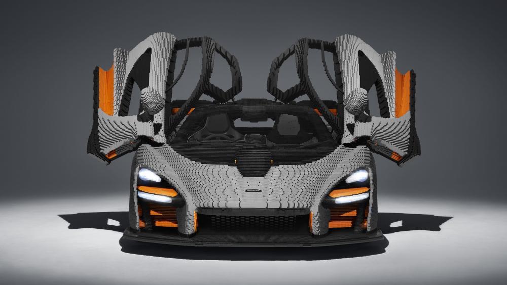 LEGO replica McLaren Senna wallpaper
