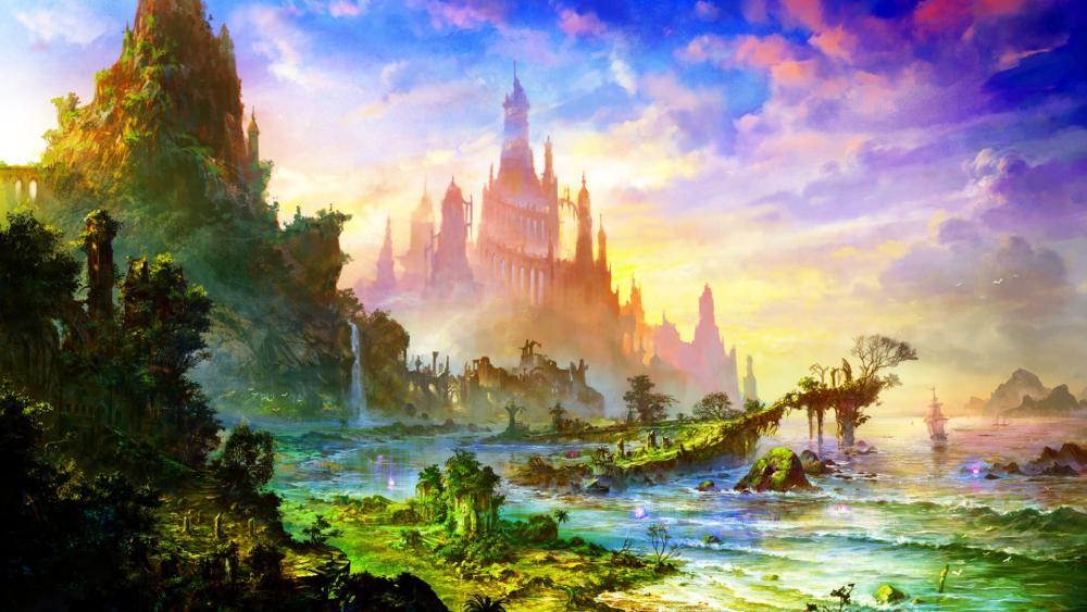 Fantasy Temple wallpaper
