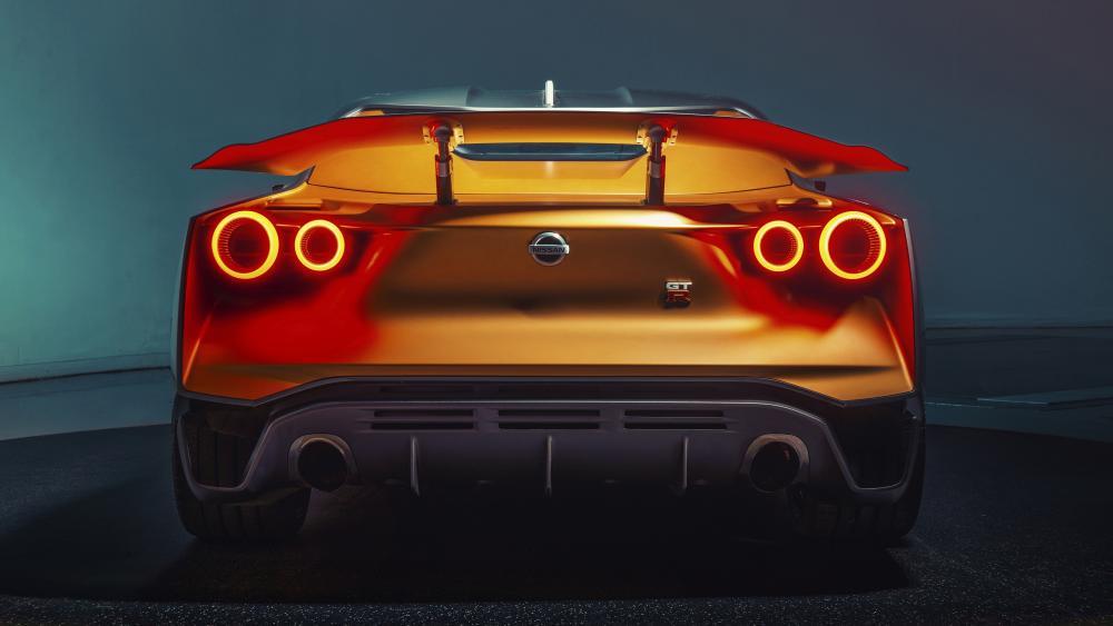 Nissan GT-R rear view wallpaper