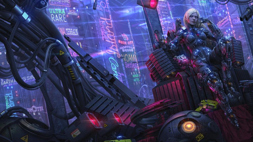 Cyberpunk girl wallpaper