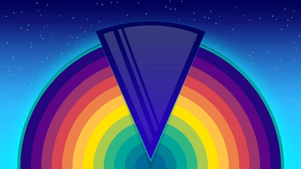 Night rainbow wallpaper