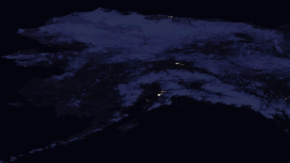 Night Lights in Alaska 2016 wallpaper