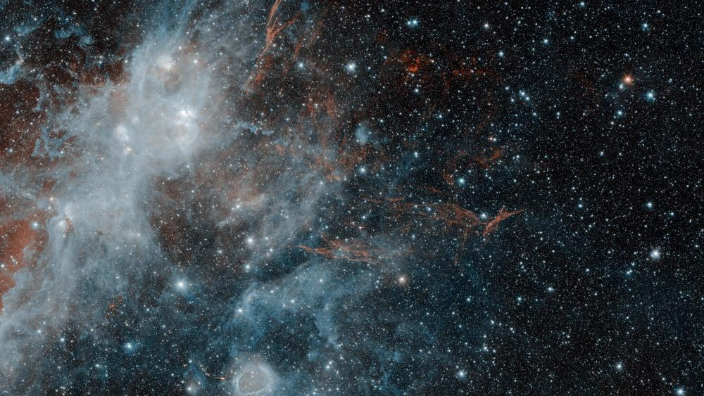 Spitzer Spies Supernova Remnant HBH3 wallpaper