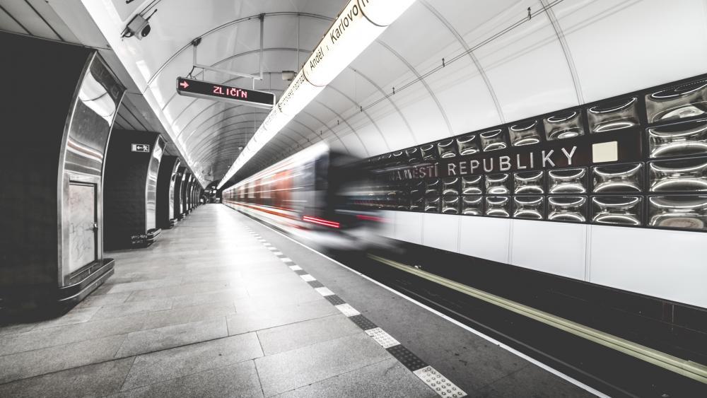 Metro station in Prague wallpaper