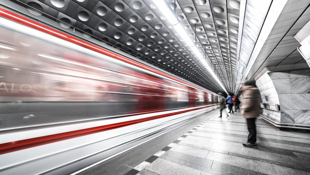 Prague metro station wallpaper