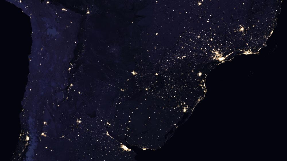 Night Lights of Southern South America 2016 wallpaper