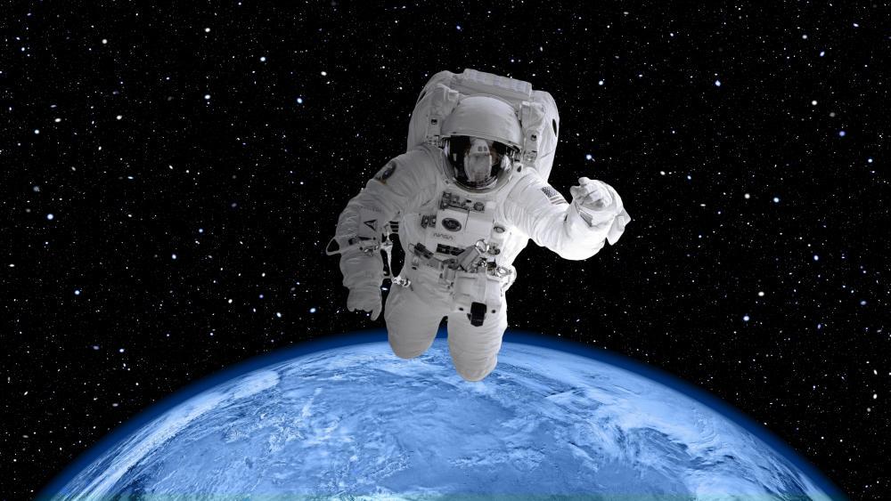 Astronaut on spacewalk wallpaper
